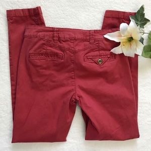 Anthropologie Daughters of Liberation Red Pants
